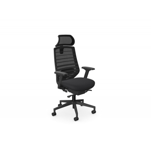 X.77 Ergonomic Mesh Backrest Chair with Lumbar Support Black