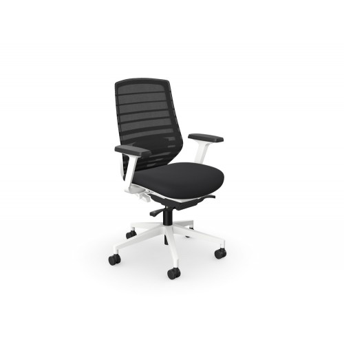 X.77 Ergonomic Mesh Backrest Chair with Lumbar Support White