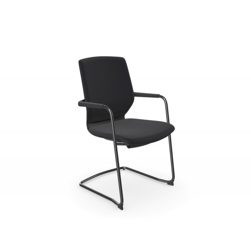 Y.88 Meeting Chair with Cantilever Frame in Black