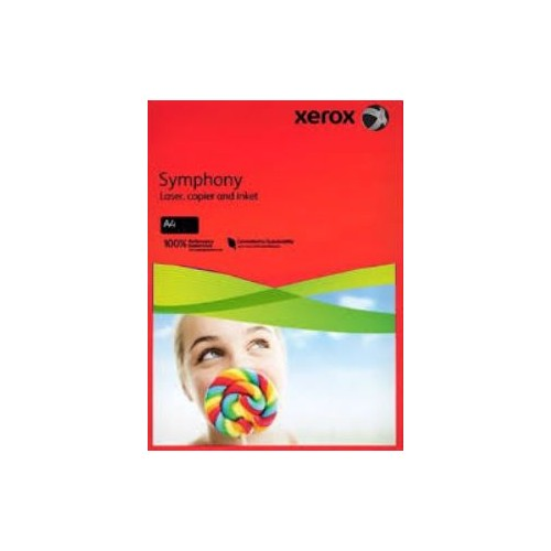 Xerox Symphony Copier Paper  80gm  Red  A4. Ream of  500 Sheets