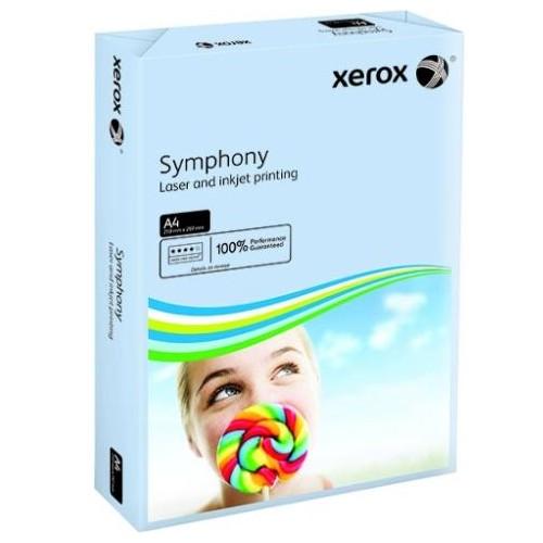 A4 Paper 80gsm.  Xerox Symphony Pastel Tints.  Blue.  Ream 500 sheets.  (5 Reams per Box)   Ref 003R93967