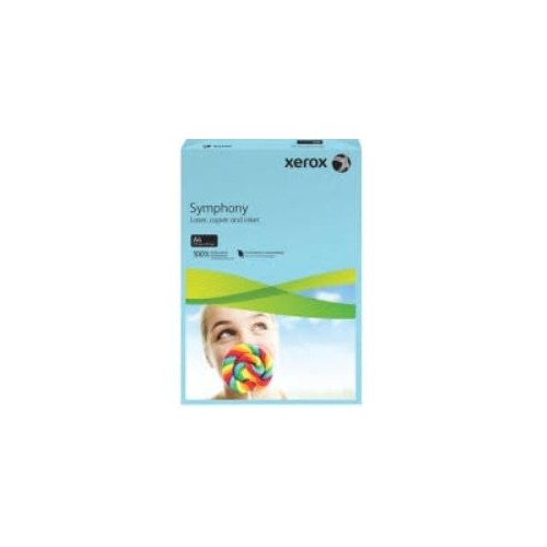 Xerox Symphony Copier Paper A4  80gm  Mid Blue.  Ream of 500 Sheets