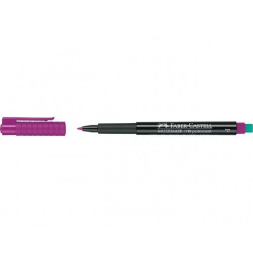 Faber-Castell Multimark 1513 Permanent 0.6mm Fine Tip Pen - Violet (Pk 10)