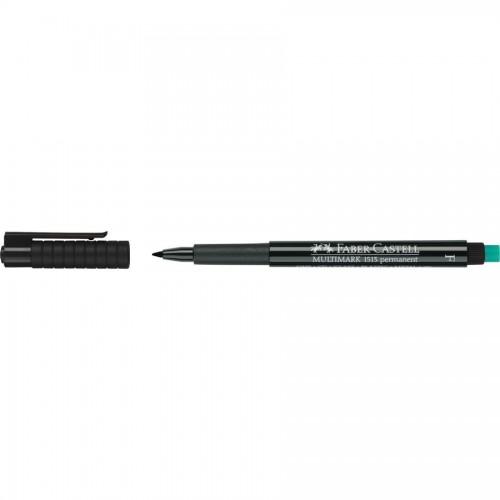 Faber-Castell Multimark 1513 Permanent 0.6mm Fine Tip Pen - Black (Pk 10)