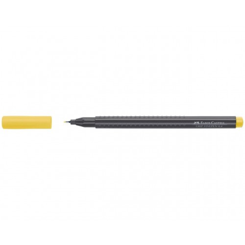 Faber-Castell Grip Permanent Finepen 0.4mm - Yellow (Pk 10)