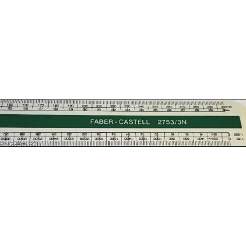 Faber Castelle 300mm Flat Scale Ruler 2753/3N
