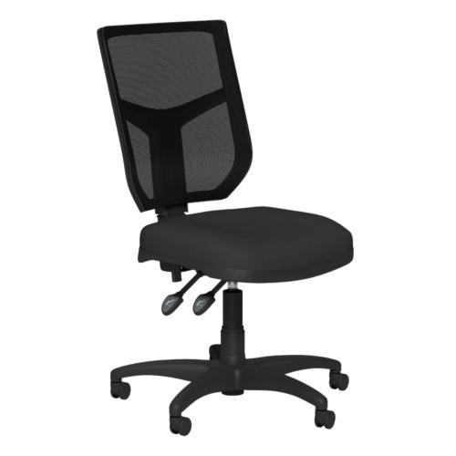 OA Mesh Back Swivel Chair; No Arms Black