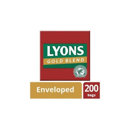Lyons Gold Blend Tea Enveloped.  Box 200