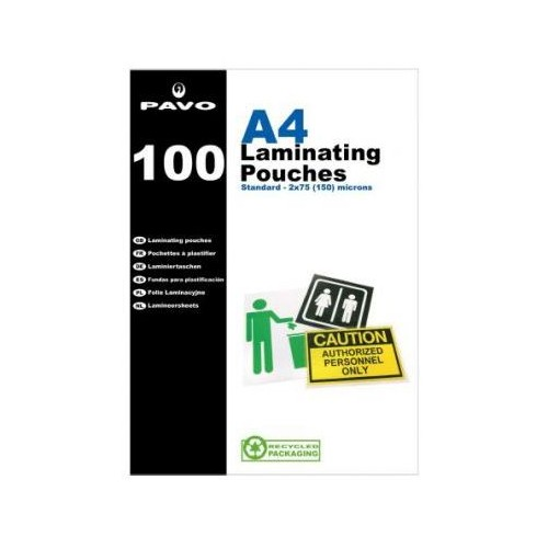 Pavo A4 Laminating Pouches 150 Micron  Pack 100
