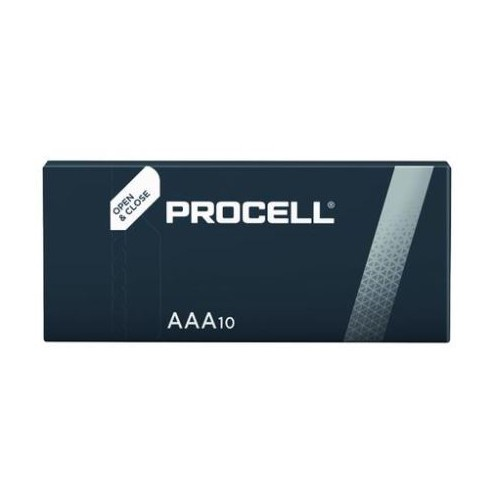 Duracell Procell Industrial Batteries AAA Alkaline 1.5 V. Box of 10