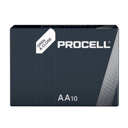 Duracell Procell Industrial AA Batteries Alkaline 1.5V  (Pack of 10)