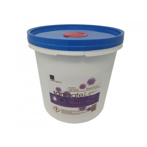Sanisafe Hand & Surface Wipes (Bucket of 1000)
