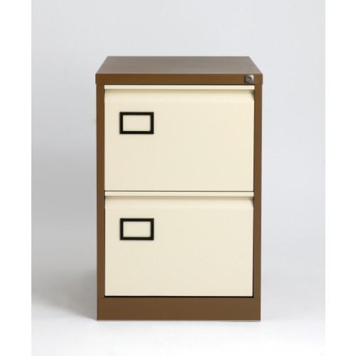 Bisley 2 Drawer AOC Filing Cabinet - Coffee & Cream