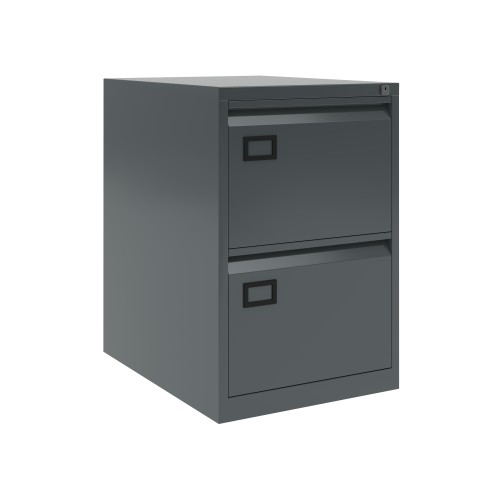 Bisley 2 Drawer AOC Filing Cabinet - Anthracite