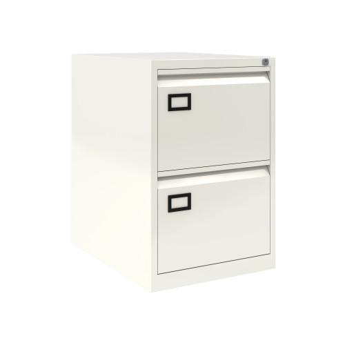 Bisley 2 Drawer AOC Filing Cabinet - Traffic White