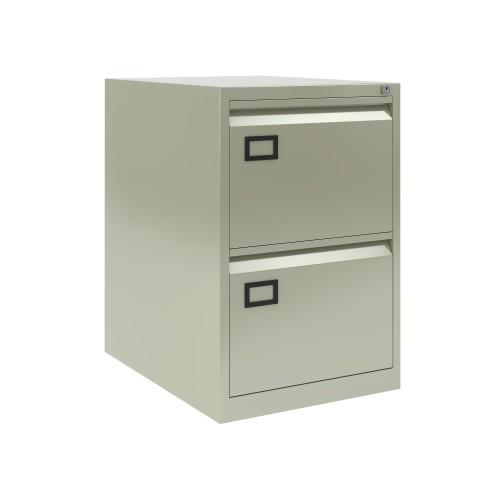 Bisley 2 Drawer AOC Filing Cabinet - Goose Grey