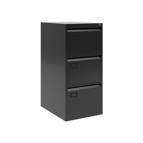 Bisley 3 Drawer AOC Filing Cabinet - Black