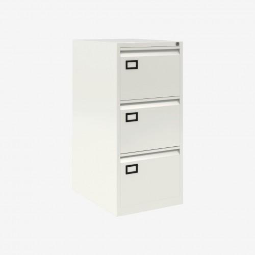 Bisley 3 Drawer AOC Filing Cabinet - Chalk