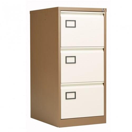 Bisley 3 Drawer AOC Filing Cabinet - Coffee & Cream