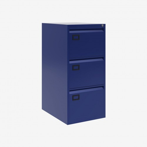 Bisley 3 Drawer AOC Filing Cabinet - Oxford Blue