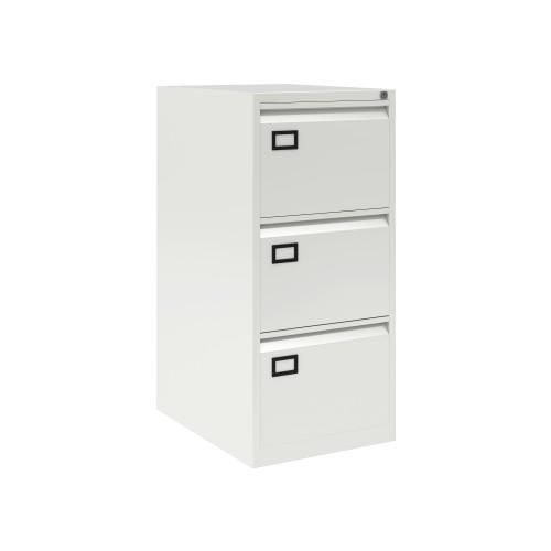 Bisley 3 Drawer AOC Filing Cabinet - Traffic White