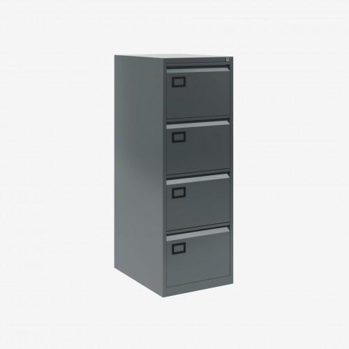 Bisley 4 Drawer AOC Filing Cabinet - Anthracite