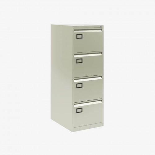 Bisley 4 Drawer AOC Filing Cabinet - Goose Grey