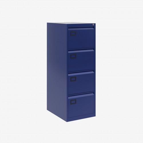 Bisley 4 Drawer AOC Filing Cabinet - Oxford Blue