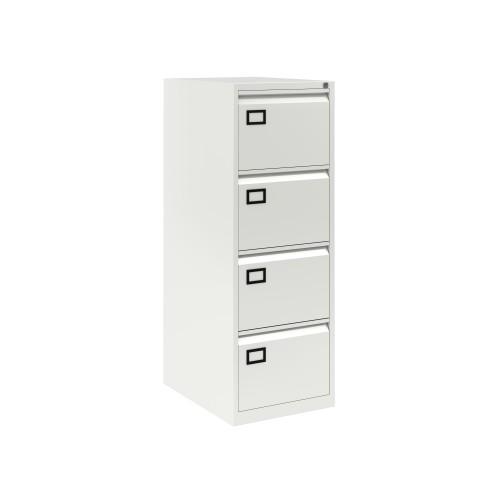 Bisley 4 Drawer AOC Filing Cabinet - Traffic White