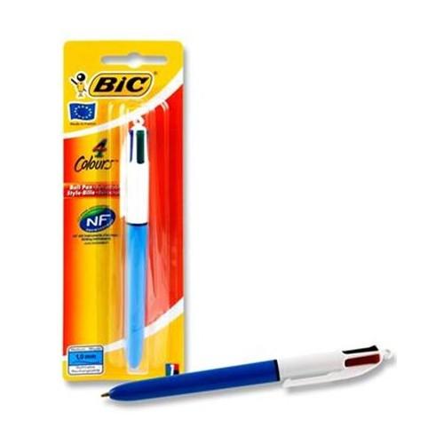 Bic 4 Colour Retractable Pen.  Carded