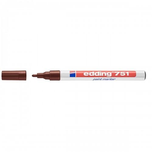 Edding 751 Paint Marker - Brown (Pk 10)