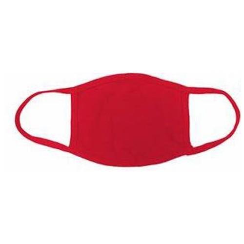 Triple Layer Reusable Cotton Cloth Face Mask. Red Pk 1