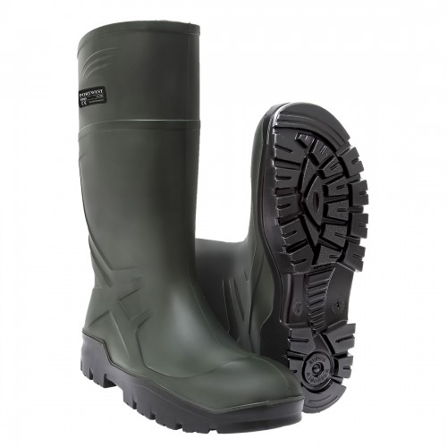 PU Non-Safety Wellingtons - Green