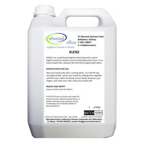 Klenz Un-perfumed Hygiene Hand Soap 5 Litre