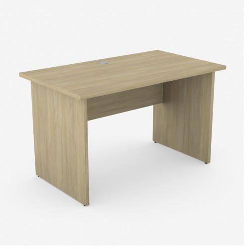 Ashford Home Office Desk; 1200 x 700mm - Panel Legs (Urban Oak)