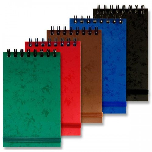 Premier Universal Mini 75x125mm Wiro Notebook With Elastic - Assorted Colours (Pk 5)