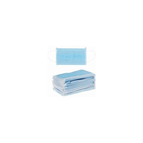 Face Mask  3 ply blue