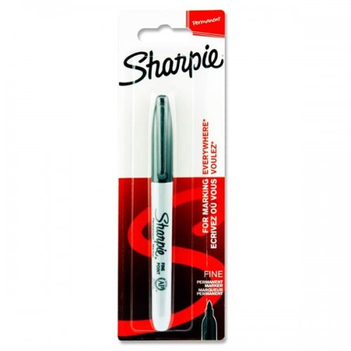 Sharpie Black Marker Permanent Fine    Carded