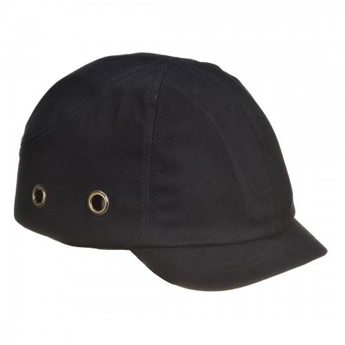 Short Peak Bump Cap - Black