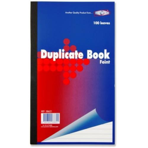 "Premier 8.5""""x 5"""" Feint Duplicate Book"
