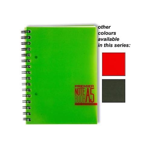 Premier A5 Poly Propylene Spiral Notebook  200 Page