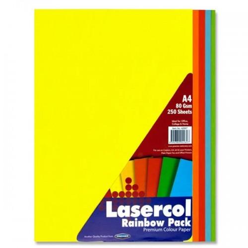 Lasercol A4 80gsm Colour Paper - Rainbow (Pk 250)