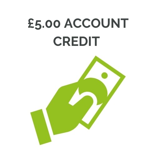 £5.00 Account Credit Note