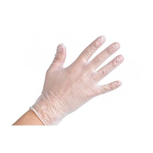 KT Yala Clear Vinyl Powder Free Gloves Medical Grade  Medium Pack 100