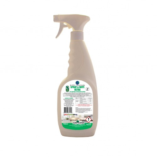 KT Spray & Wipe Ultra Virucidal Cleaner (Certified Against Coronavirus) 750ml Pack of 6 2 Trigger heads Per Box