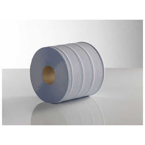 KT Centre Feed Blue 2ply 180mm x 150M Paper Hand Towel  Plain  Pack 6