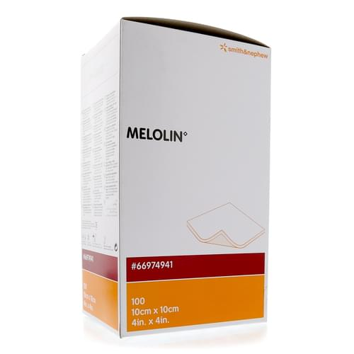 Melolin Dressing 10cm x 10cm Pack 100