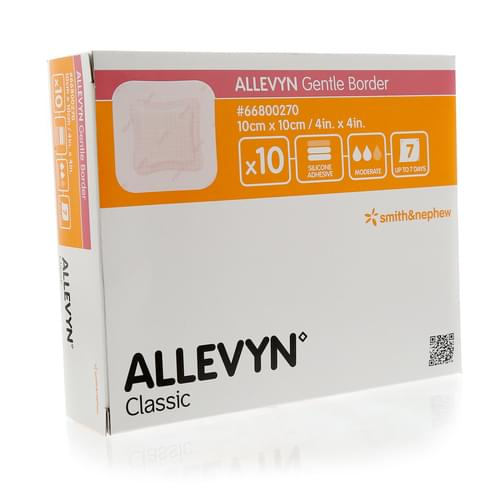 Allevyn Gentle Border 10cm x 10cm Pack 10