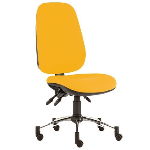 Quasar Deluxe Chair, No Arms, Chro-P/R