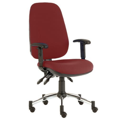 Quasar Deluxe Chair, Adj Arms, Chro-R/W